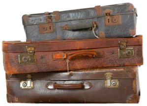3 suitcases png