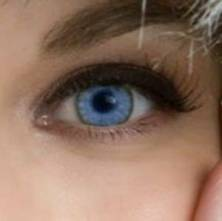 her blue eye