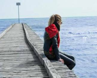 the girl on a pier